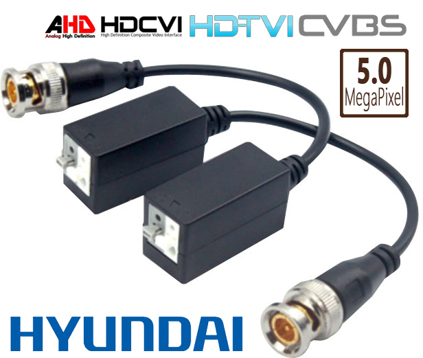 Pair of video baluns for HDCVI / HDTVI / AHD over UTP Cat5/Cat6 unshielded  twisted pair up to 5MPix