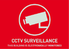 Abus Warning sticker CCTV surveillance, (english) 148X105mm - AU1312