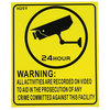 CCTV surveillance warning sign, (english) 240X200mm