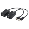 USB Line Extender up to 60m via CAT5, Cat5e, CAT6 cable - with RJ45 plugs