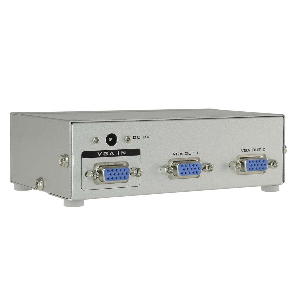 Vga Splitter 1 Input 2 Outputs Svga Xga Multisync Incl Converter Port Spliter