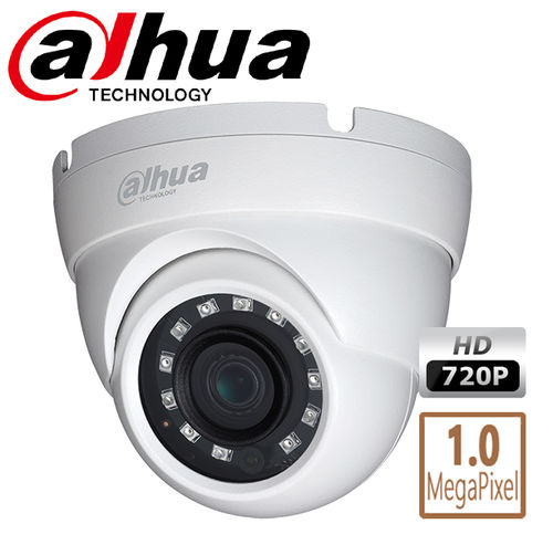 DCW153HD - Dahua 1MPix 720p HD CCTV dome camera weatherproof, 20m night vision multi standard F4N1