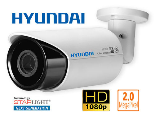 HYU-55N - Hyundai 4 in 1 Starlight Next Generation 2MPix varifocal bullet style camera, 1080p - F4N1