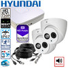 DIY complete HD CCTV System, 2 HD dome cameras incl. DVR with storage, audio - 720p (1280x720pixel)