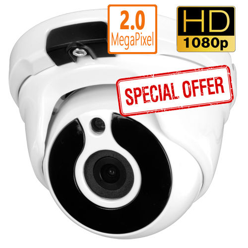 DCW2004HD - 4 in 1 HDTVI/HDCVI/AHD/CVBS Colour dome CCTV camera, 2 Mpix 1080p 3.6mm weatherpoof F4N1