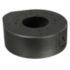 Deep Base / Junction Box for dome cameras, 120mm base diameter, 43mm high, metal, dark grey