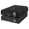HDMI and USB extender via Cat5e / Cat6 (RJ45), up to 120m, up to 1080p resolution