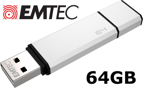 EMTEC C900 USB Flash Drive 64GB - Silver