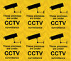 6pcs CCTV Warning Labels, CCTV Warning Signs, self-adhesive 100x75mm